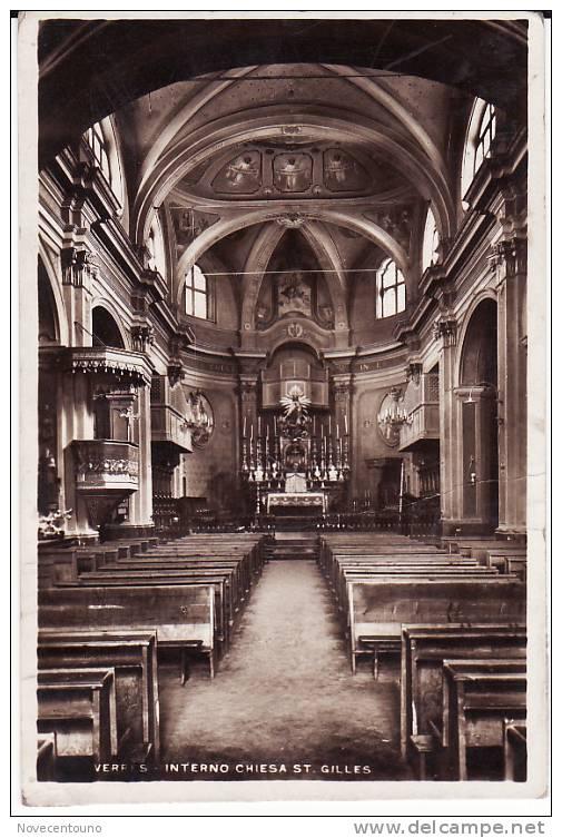 VALLE D´AOSTA -  Aosta -  Verres - Interno Chiesa Saint Gilles - Aosta