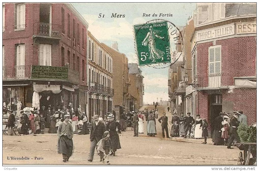 80350 MERS LES BAINS - RUE DU FORTIN En 1910 - Mers Les Bains