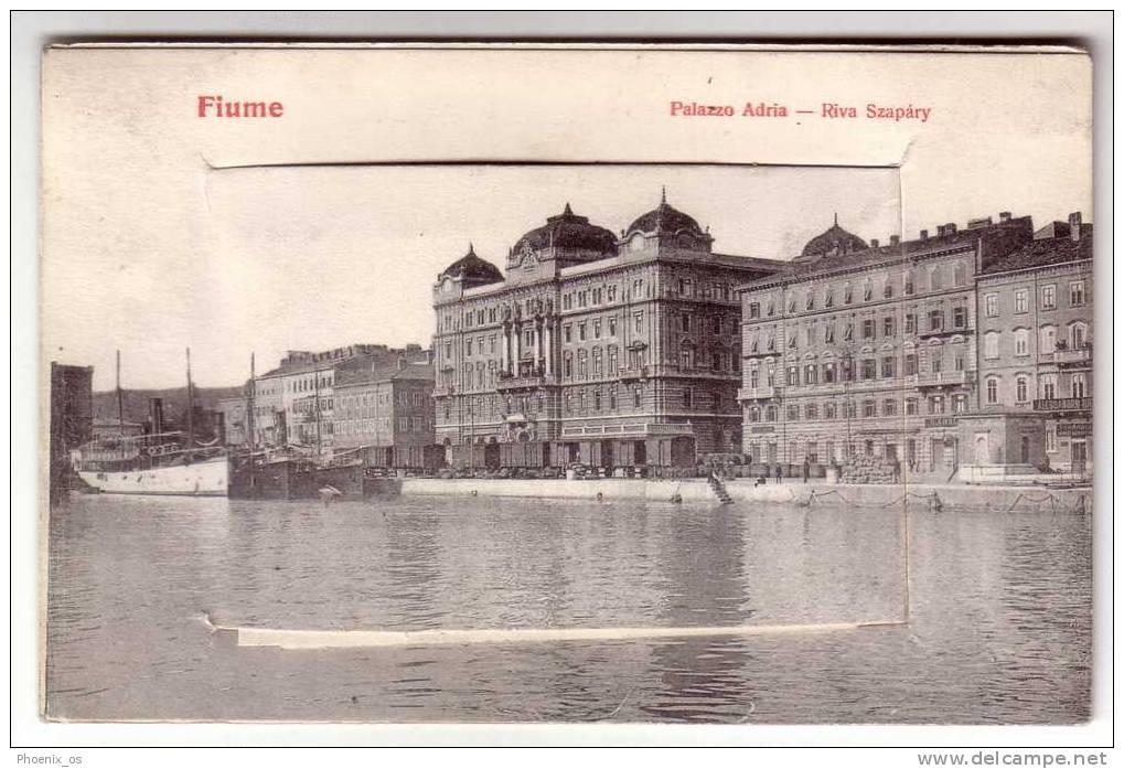 CROATIA - RIJEKA / FIUME, Set Photo, Old Postcard - Croatie