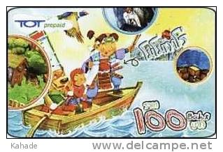 Thailand Pin Phone Prepaid Phonecard   Kat.085 Comic Boot - Thaïland