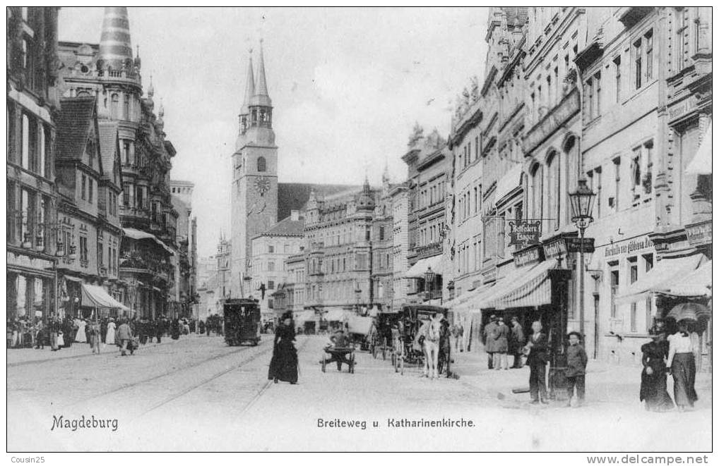 ALLEMAGNE - MAGDEBURG - Breiteweg U. Katharinenkirche - Magdeburg