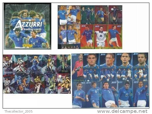AZZURRI TRADING CARDS 2004 (144 Figurine Calcio Nazionale Italia) SOCCER - SERIE COMPLETA / COMPLETE SET !!! - Figurillas