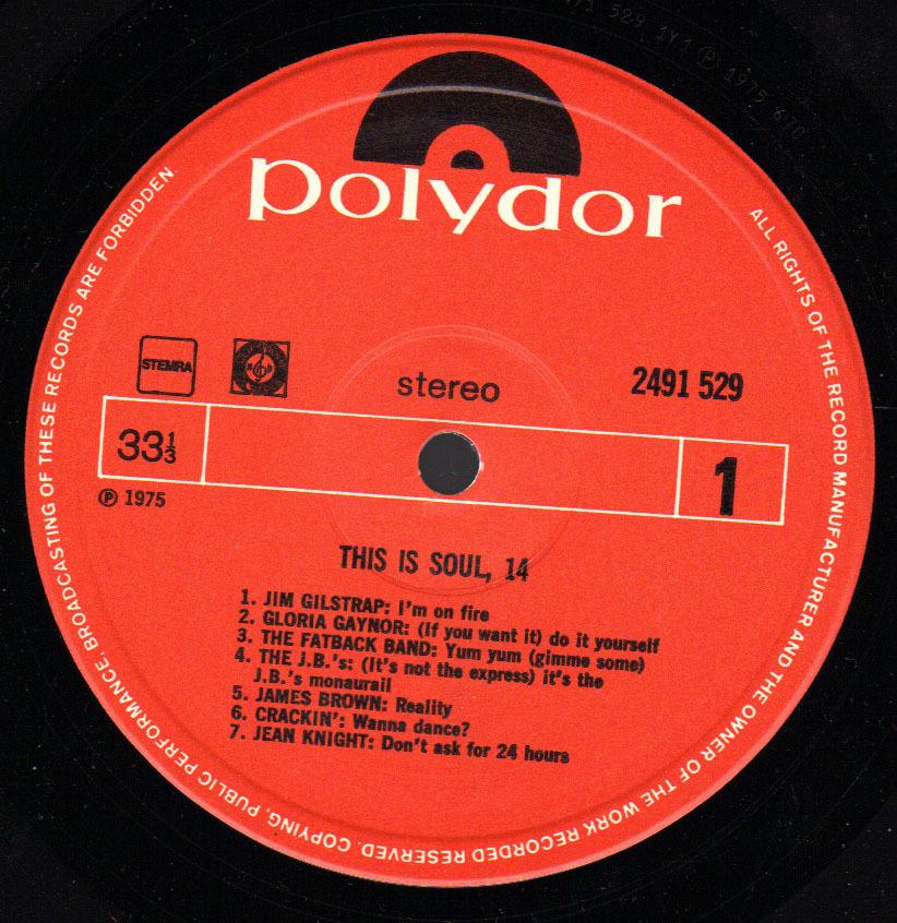 * LP *  THIS IS SOUL 14 - VARIOUS ARTISTS - Soul - R&B
