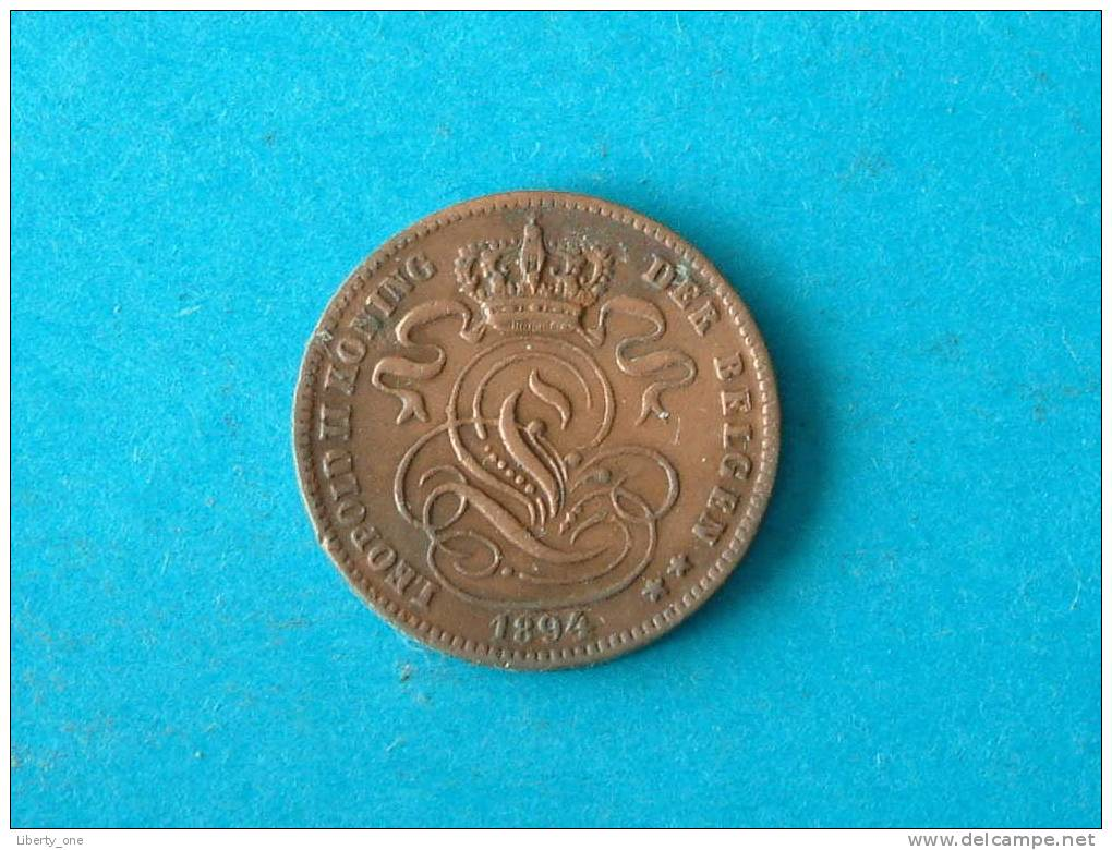 1894 - 1 CENT VL / KM 34.1 ( Details Zie Foto ) ! - 1865-1909: Leopold II