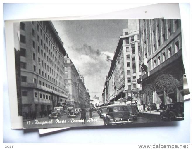 Argentina Buenos Aires Diagonal Norte Old Cars - Argentina