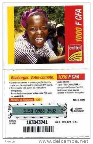 @+ Niger - Prépayée Celtel - 1000 FCFA - Code NG-E Au Verso - Niger
