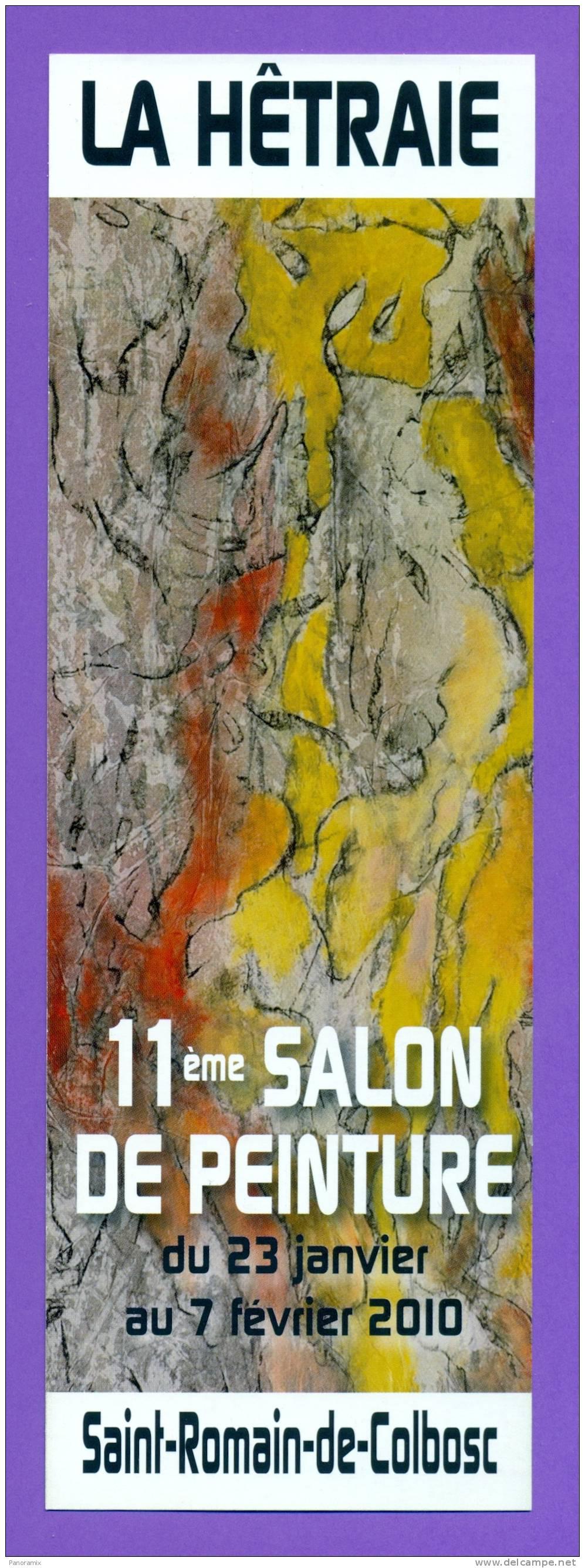 """Salon  De  Peinture   """"  St - Romain  De  Colbosc  76  """"   R   7 X 21  Cm - Marque-Pages"""