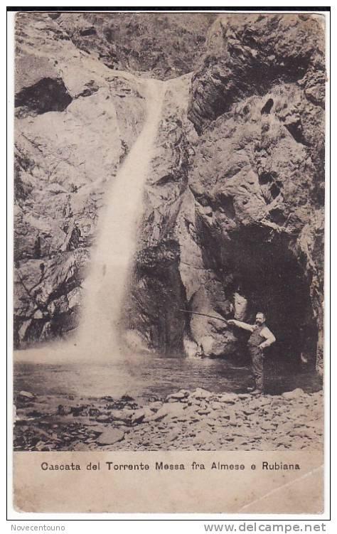 PIEMONTE - TORINO - Val Di Susa - Almese Rubiana - Cascata  Del Torrente Massa - DIFETTO - - Non Classificati