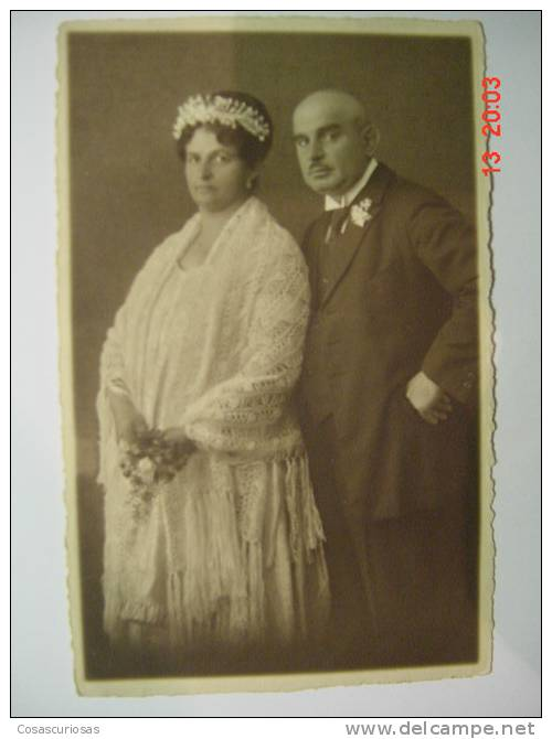 2069 WEDDING BODA MARRIAGE  GERMANY PHOTO POSTCARD YEARS 1920 OTHERS IN MY STORE - Noces