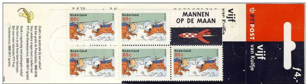 NEDERLAND NVPH NR. PB  59* KUIFJE POSTZEGELBOEKJE STRIPPOSTZEGELS GESTEMPELD  1999 - Period 1980-... (Beatrix)