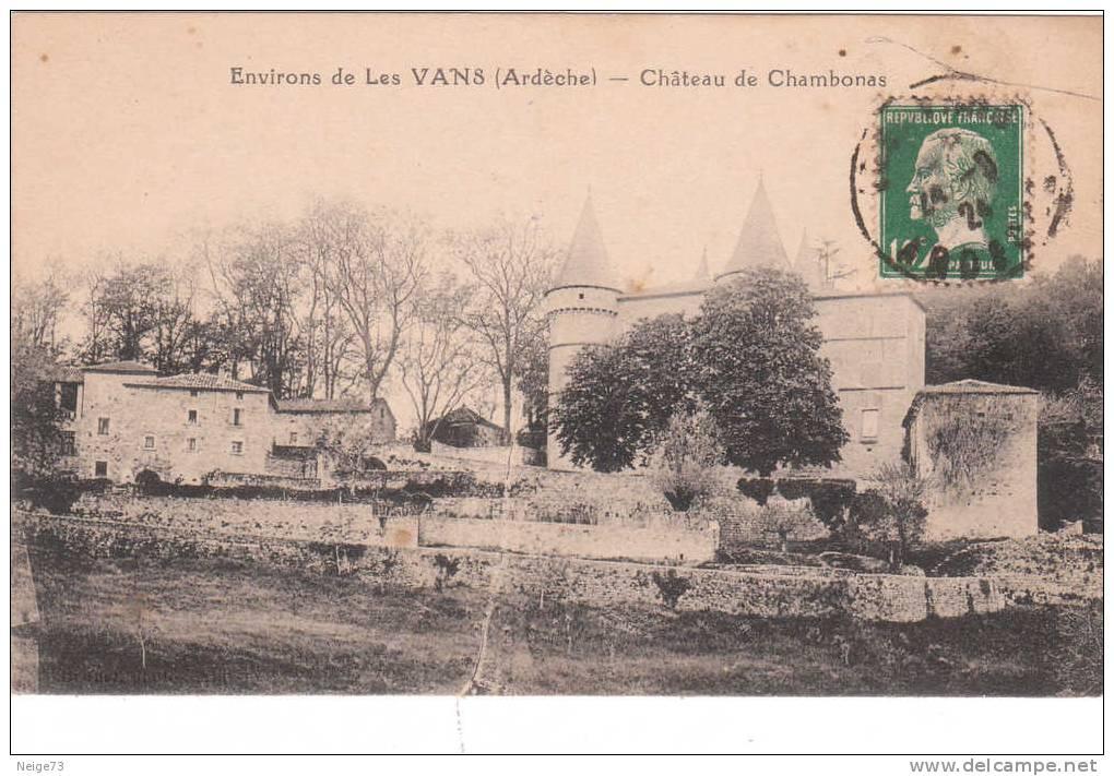 Cpa Du 07 - Enviorns De Les Vans - Château De Chambonnas - Ohne Zuordnung