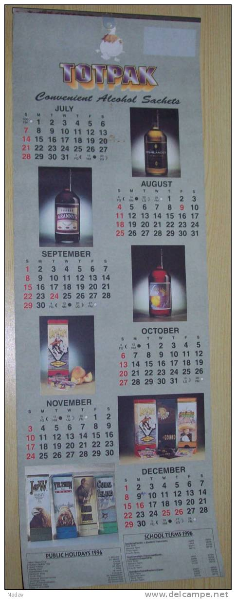 Wall Calendar - 1996, RSA ! - Unclassified