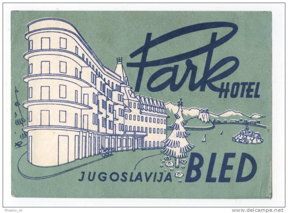 Ex YUGOSLAVIA / SLOVENIA - Bled, Vignette, Hotel PARK - Hotel Labels