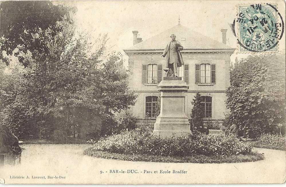 MEUSE 55.BAR LE DUC.PARC ET ECOLE BRADFER - Bar Le Duc