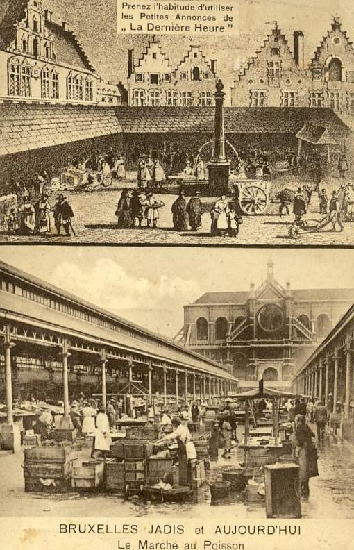 Commerce -  Halles - Marchands Poisson - Histoire - Bruxelles - Halles