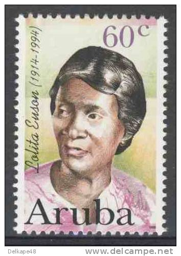 Aruba 1996 Mi 183 Sc 140 ** Lolita Esmeralda Euson (1914-1994) Poet / Lyrikerin / Dichter - Schrijvers