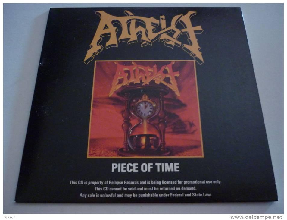 "ATHEIST ""piece Of Time "" PROMO CD - Hard Rock & Metal"