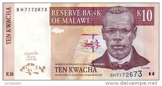 MALAWI   10 Kwacha  Daté Du 01-06-2004   Pick 43b     ***** BILLET  NEUF ***** - Malawi