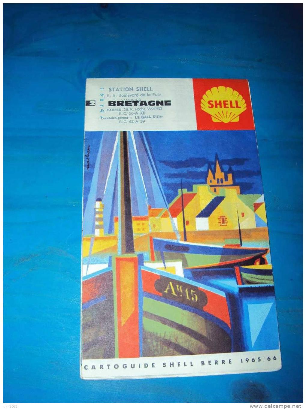 CARTOGUIDE SHELL BRETAGNE - Cartes
