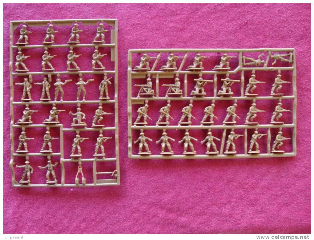 MATCHBOX (lesney) BRITISH INFANTERY  50 Figurines 1/76  à Peindre  Ref P5001 - Beeldjes
