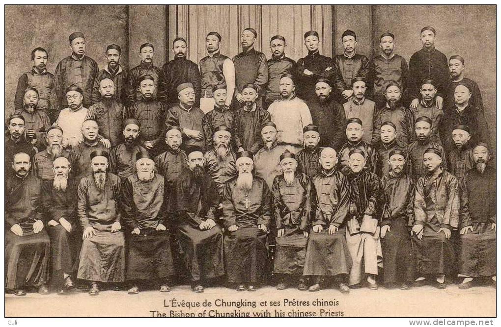 CHINE-l´Evêque De Chungking  Et Ses Prêtres Chinois (Setchoan) (Sichuan) Ed : Missions Etrangères De Paris* PRIX FIXE - Chine