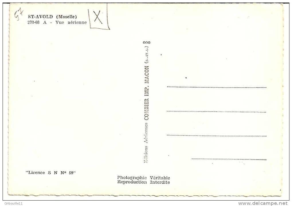 SAINT AVOLD    -   ** VUE AERIENNE Avec CASERNES Et EGLISES **    -   Editeur : COMBIER De Macon  N° 370-68.A - Saint-Avold
