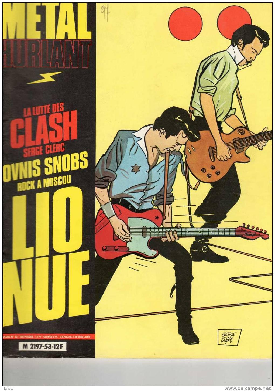 METAL HURLANT - N° 53 De Juillet 1980 - Lio Nue - La Lutte Des Clash De Serge Clerc ... - Métal Hurlant