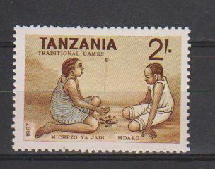 Tanzania MNH, 1987, Traditional Games, Culture - Giochi