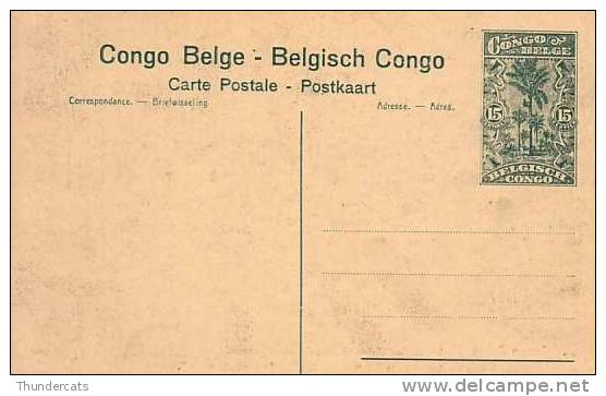 CONGO BELGE * BELGISCH CONGO * CONGO BELGIUM * 15 CENTIMES * NO 88 BAUDOUINVILLE INDIGENES APPORTANT DES VIVRES A LA .. - Entiers Postaux