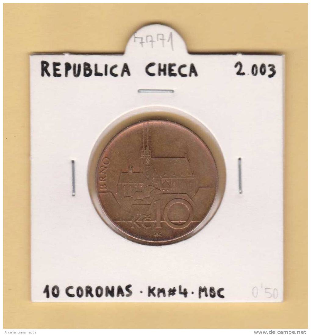 REPUBLICA  CHECA  10  CORONAS   Cobre-Acero  2.003    KM#4    MBC/VF     DL-7771 - República Checa