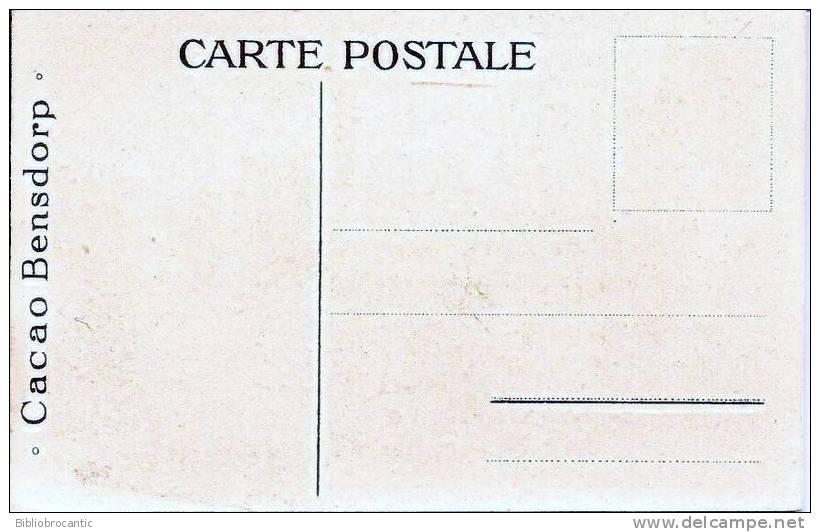 Carte Chromolithographie Petit Format PUB CACAO BENSDORP  - LA HOLLANDE N°1 - Advertising