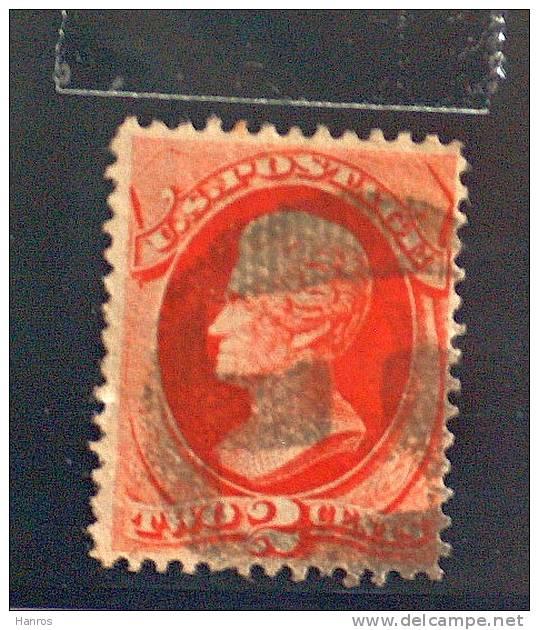 Georg Washington, 1882, 2 Cent,rot-orangebraun - Usati