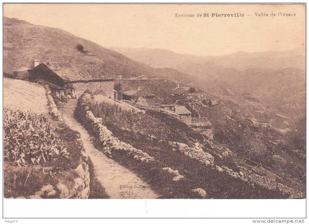 Cpa Du 07 - Environs De St Pierreville - Vallée De L'Orsane - Frankreich