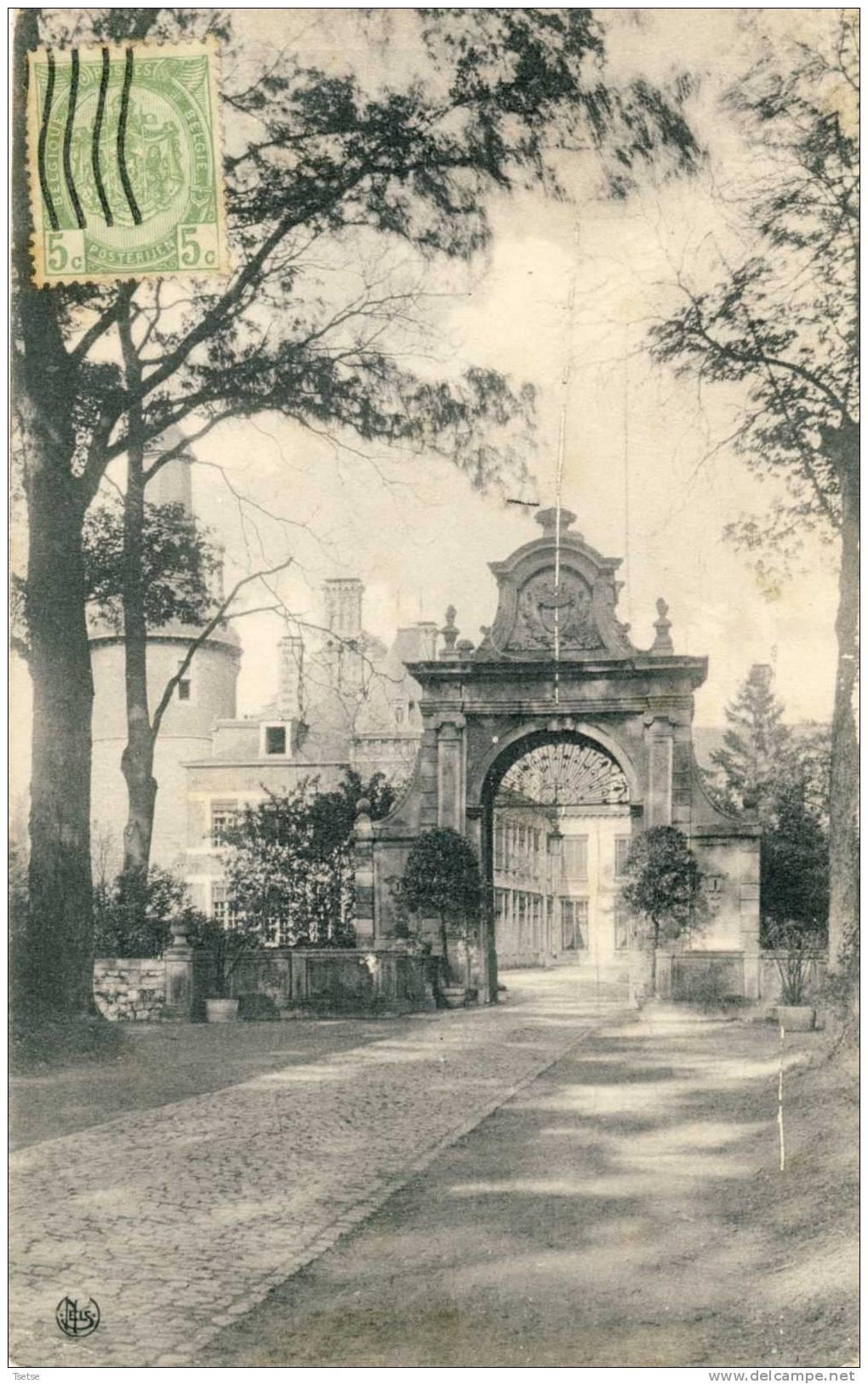 Fontaine-l'Evêque - L'Entrée Du Château  -1912 ( Voir Verso ) - Fontaine-l'Evêque
