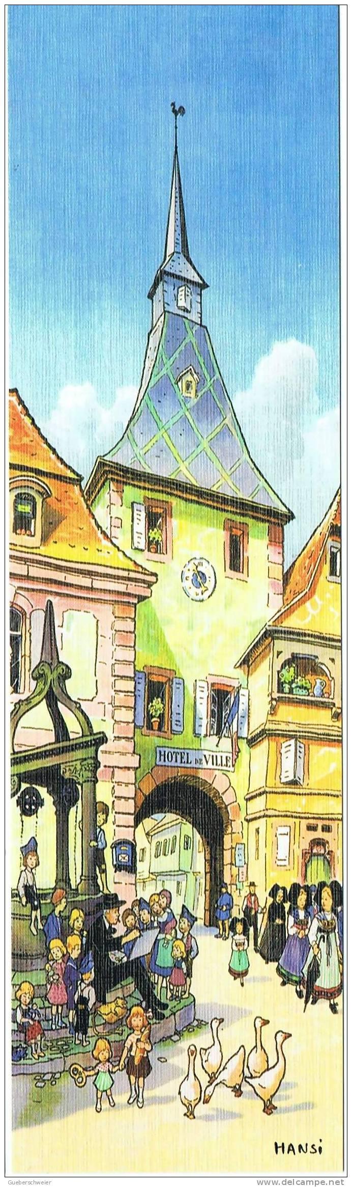 Marque Pages HANSI  L'Hôtel De Ville - Marque-pages