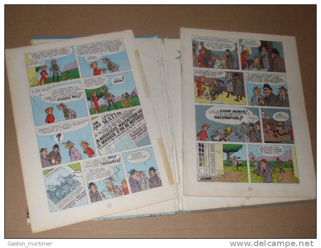 Spirou Et Fantasio - Franquin - Tome 8 Dos Rond Bleu Pale - 1964 - Spirou Et Fantasio