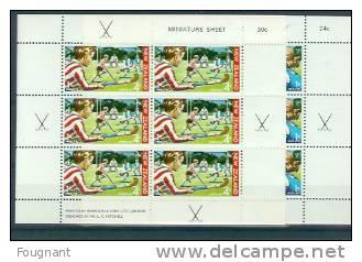 NOUVELLE-ZELANDE:1971:BF3   0/31   NSC.Surtaxe Au Profit Des Oeuvres De La Santé. - Hockey (sur Gazon)