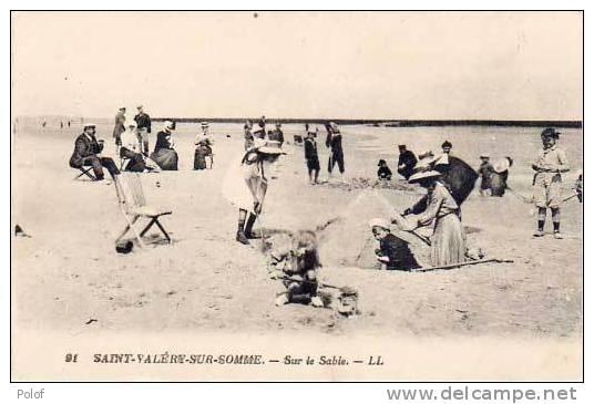 Saint Valery Sur Somme - Sur Le Sable - Enfants   (12194) - Saint Valery Sur Somme