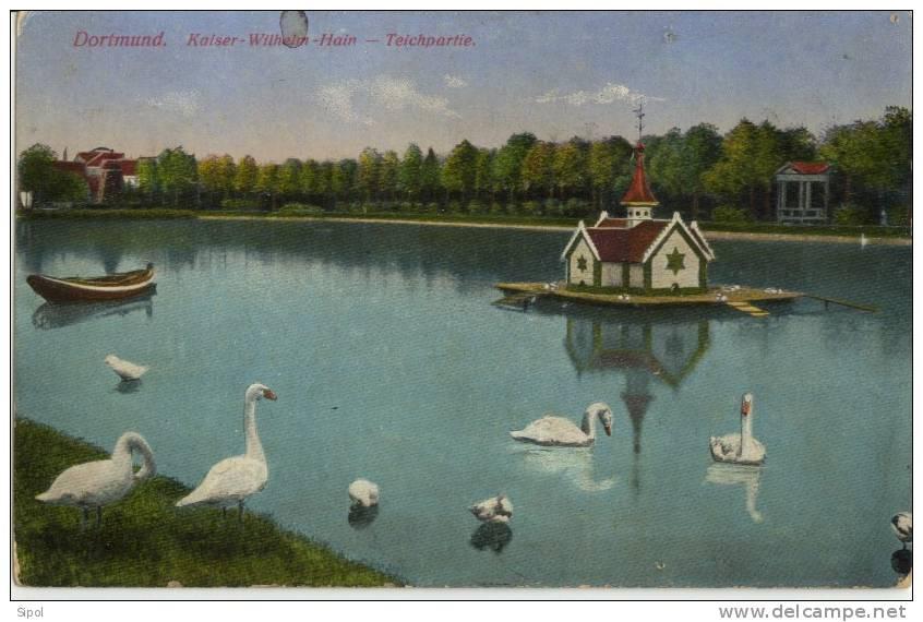 Dortmund Kaiser-Wilhelm-Hain-Teichpartie Cygnes Sur Le Lac  NON Circulé - Dortmund