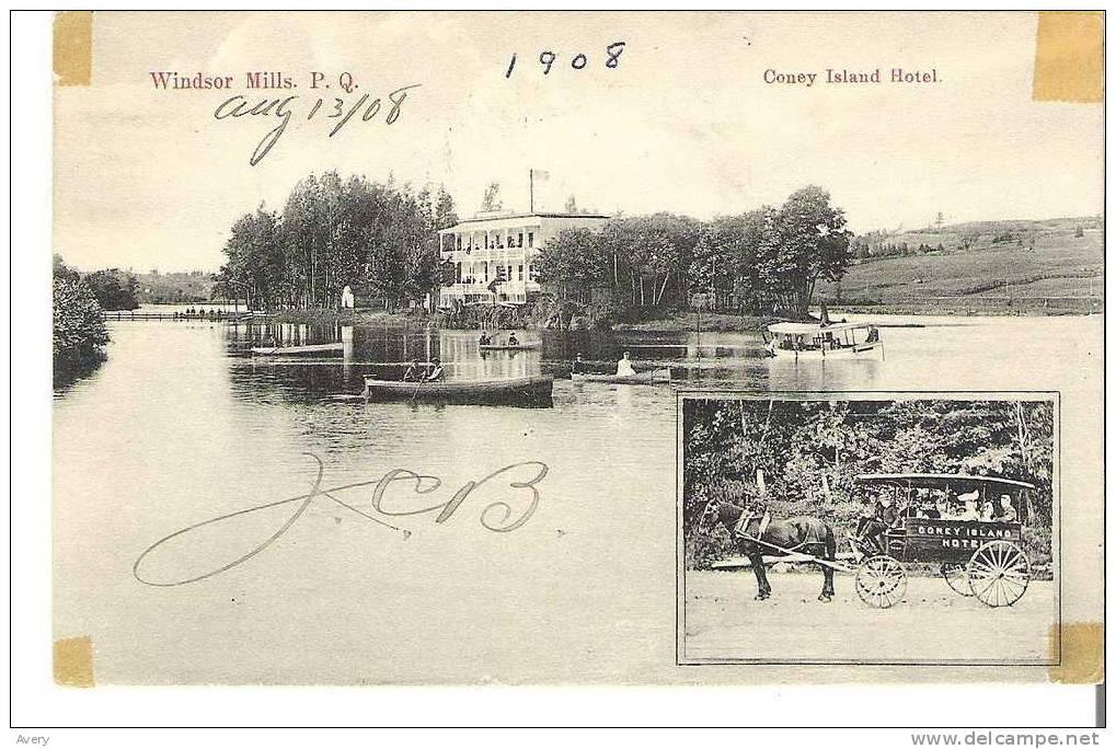 Windsor Mills, Quebec  Coney Island Hotel - Quebec