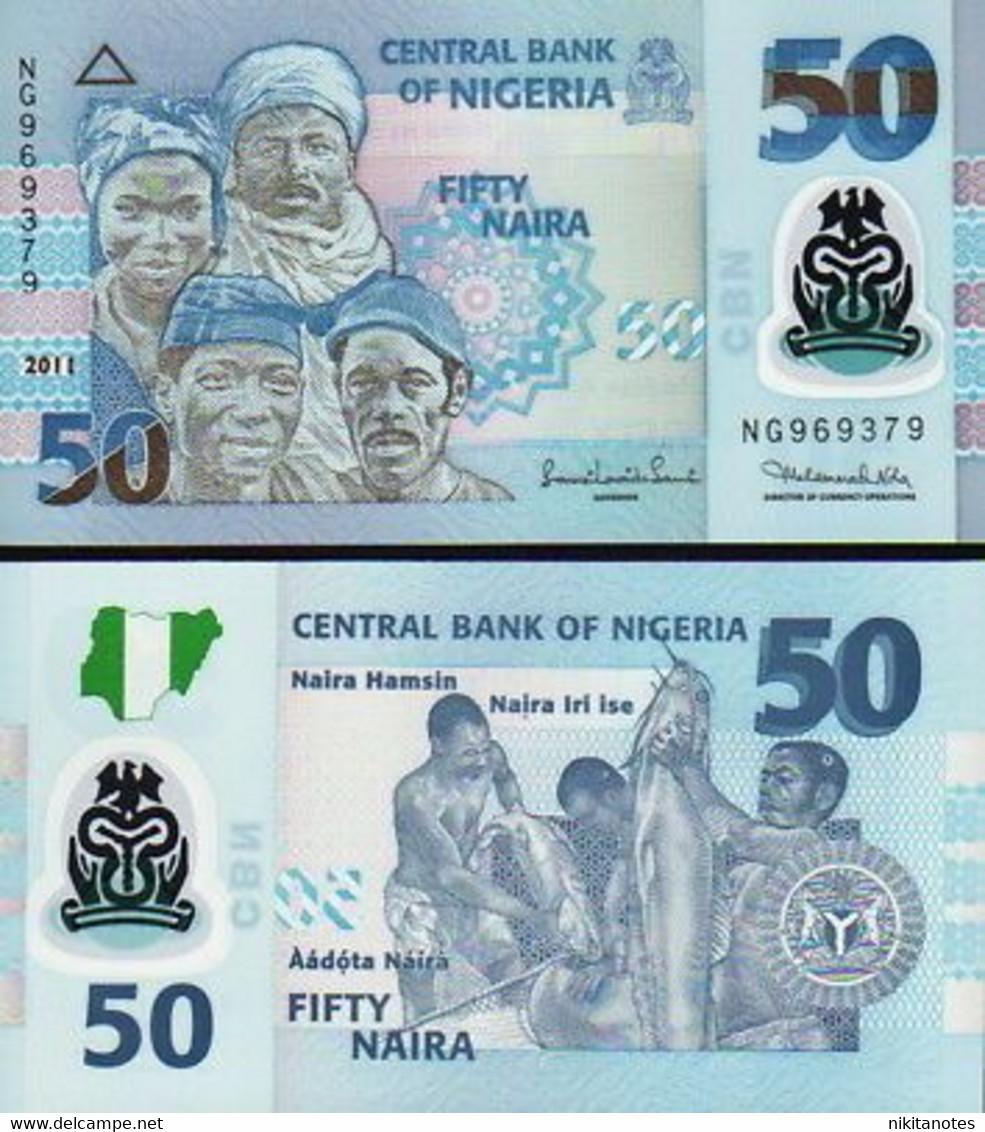 NIGERIA 10 & 20 & 50 Naira 3 NOTES 2006 UNC - Nigeria