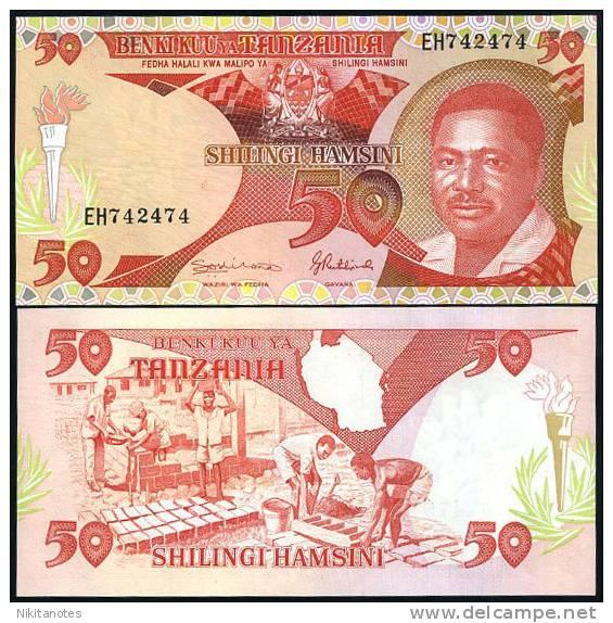 TANZANIA 50 SHILLING ND 1992 P 19 UNC - Tanzanie