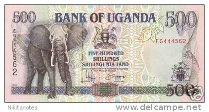 Uganda, 500 Shillings, 1996 UNC -- Elephant - Uganda