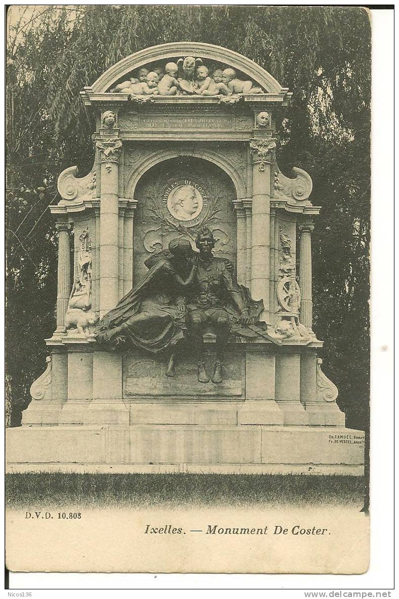 IXELLES   MONUMENT DEKOSTER     D.V.D. 10803 - Ganshoren