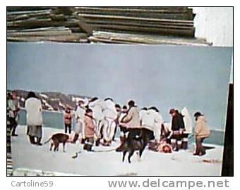 GROENLANDIA  MISSIONARI OBLATI POLARI PASTO IN COMUNE DOPO LA CACCIA CACCIATORE ARTICO   N1975 CN9594 - Groenlandia