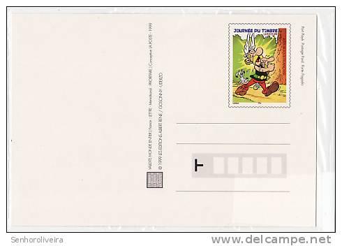 ASTERIX - Carte Postale Neuve Journée Du Timbre 1999 - Timbre + Cachet 1er Jour 06.03.99 + Timbre Verso - Ansichtskarten