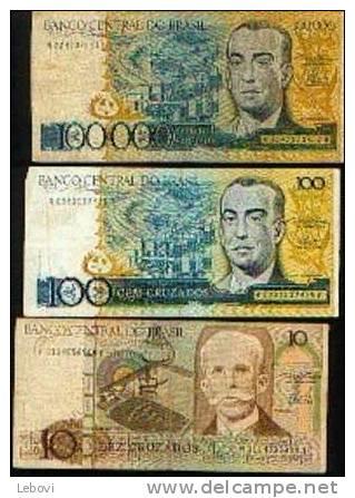 BRESIL - Lot De 3 Billets - Brésil