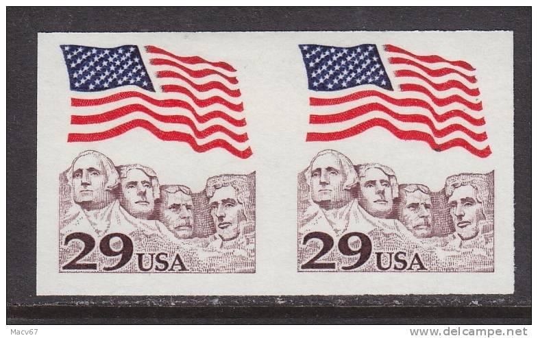 U.S. 2523b   Imperf Pair *  Mt. RUSHMORE - Errors, Freaks & Oddities (EFOs)