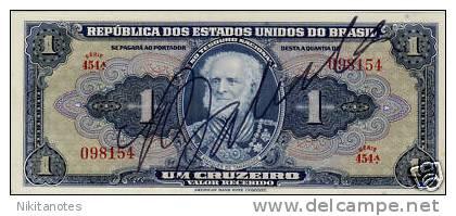 BRASILE 1 CRUZEIRO UNC BANKNOTE - Brésil