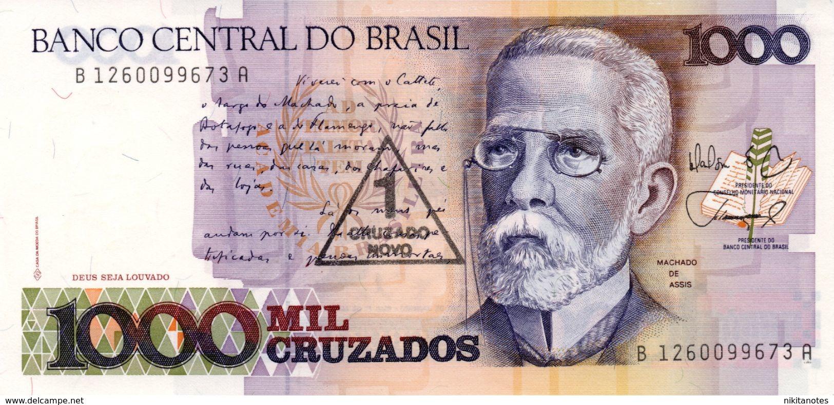 BRASILE 2 UNC 1000 CRUZADOS DIFFERENT BANKNOTES - Brésil